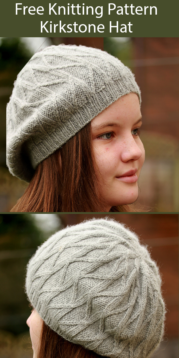 Free Knitting Pattern for Kirkstone Beret
