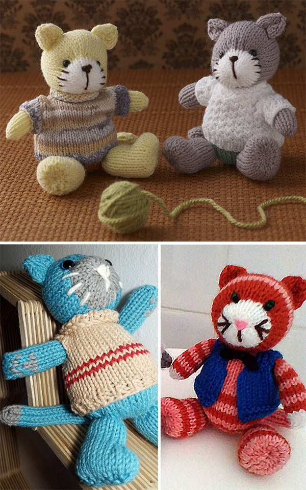 7fa56dd5d Cat and Kitten Knitting Patterns- In the Loop Knitting