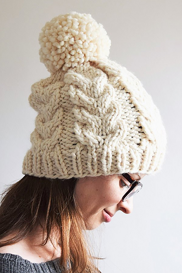 0014bcd4f Pom Pom or Bobble Hats Knitting Patterns- In the Loop Knitting