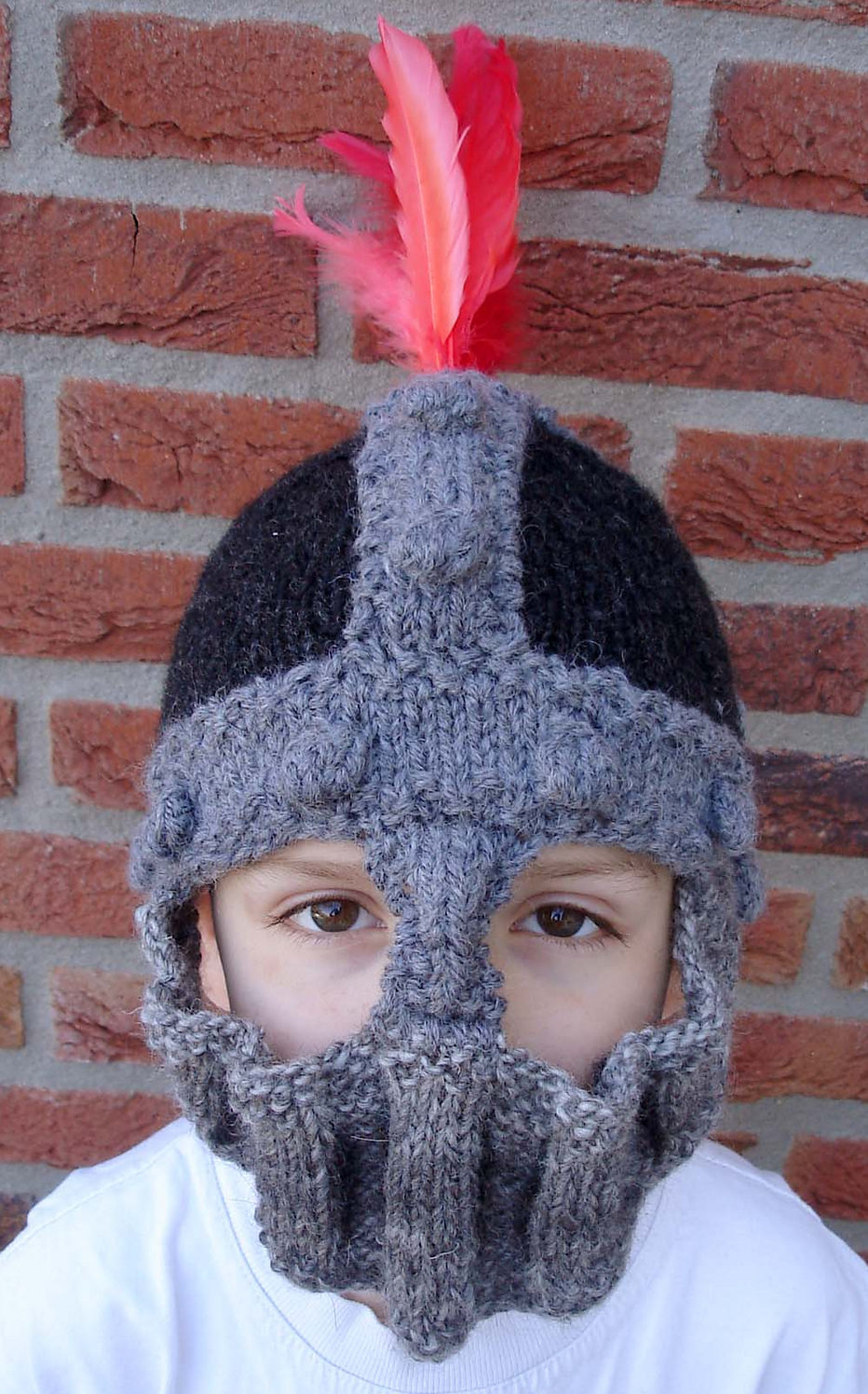 Free Knitting Pattern for Knight Helmet