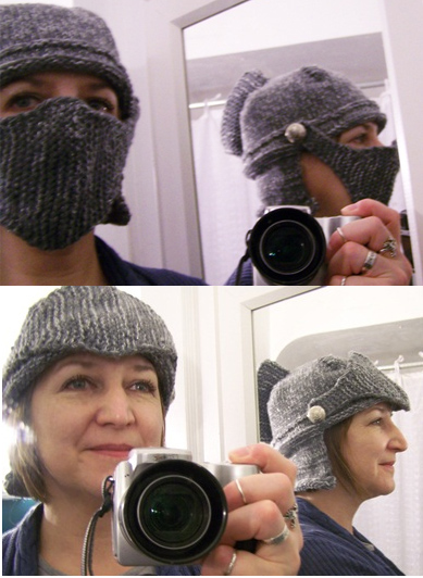 Free knitting pattern for Knight's Helmet