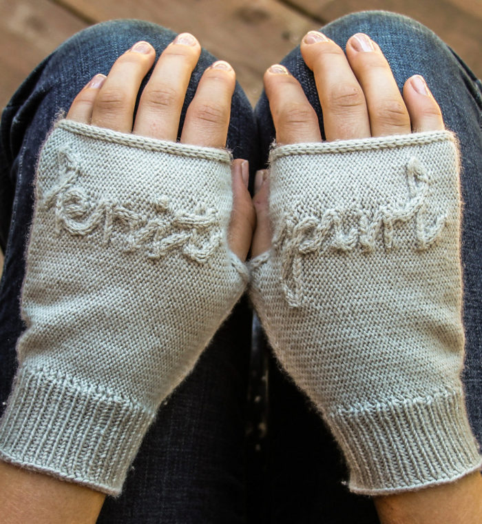 Knitting Pattern for Knit & Purl Hand Mitts