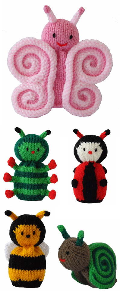 Free Knitting Patterns for Butterfly and Cutie Crawlies