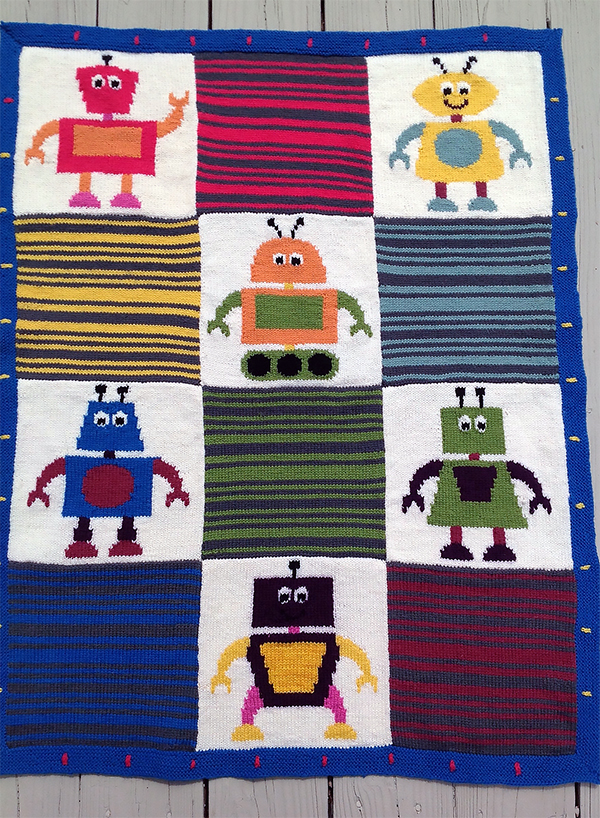 Knitting Pattern for Knitbots Baby Blanket