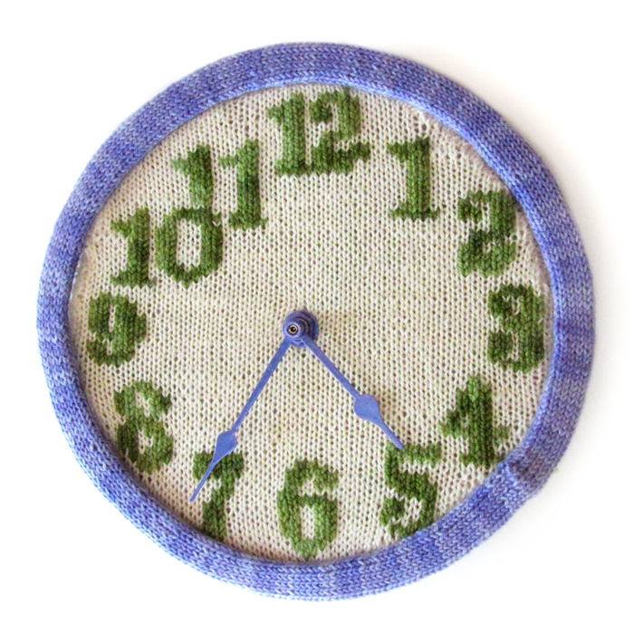 Free knitting pattern for clock and more household knitting patterns