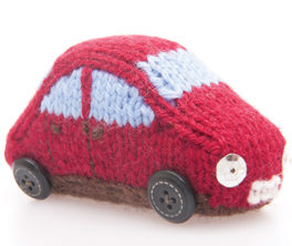 Free Knitting Pattern for Miniature Car Toy