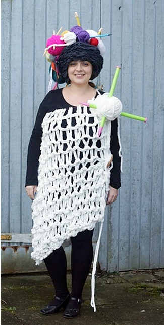Free Knitting Pattern for a Knitter Costume