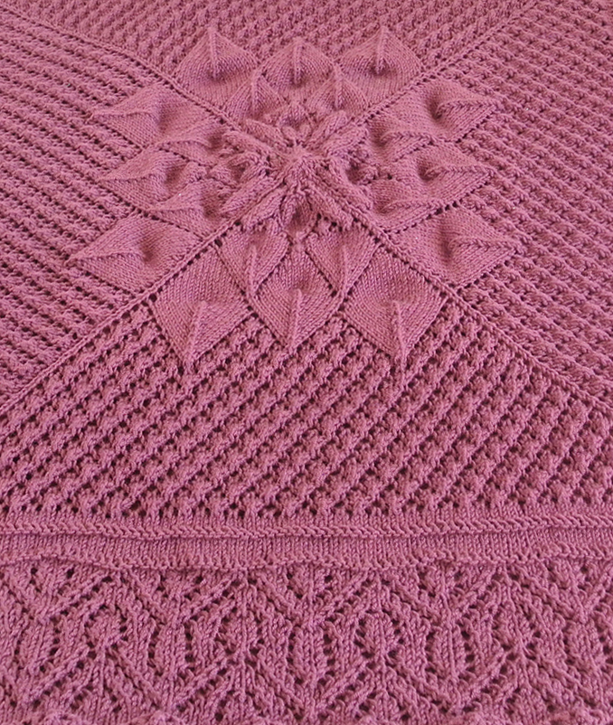 Free Knitting Pattern for Knitting on the Border Blanket