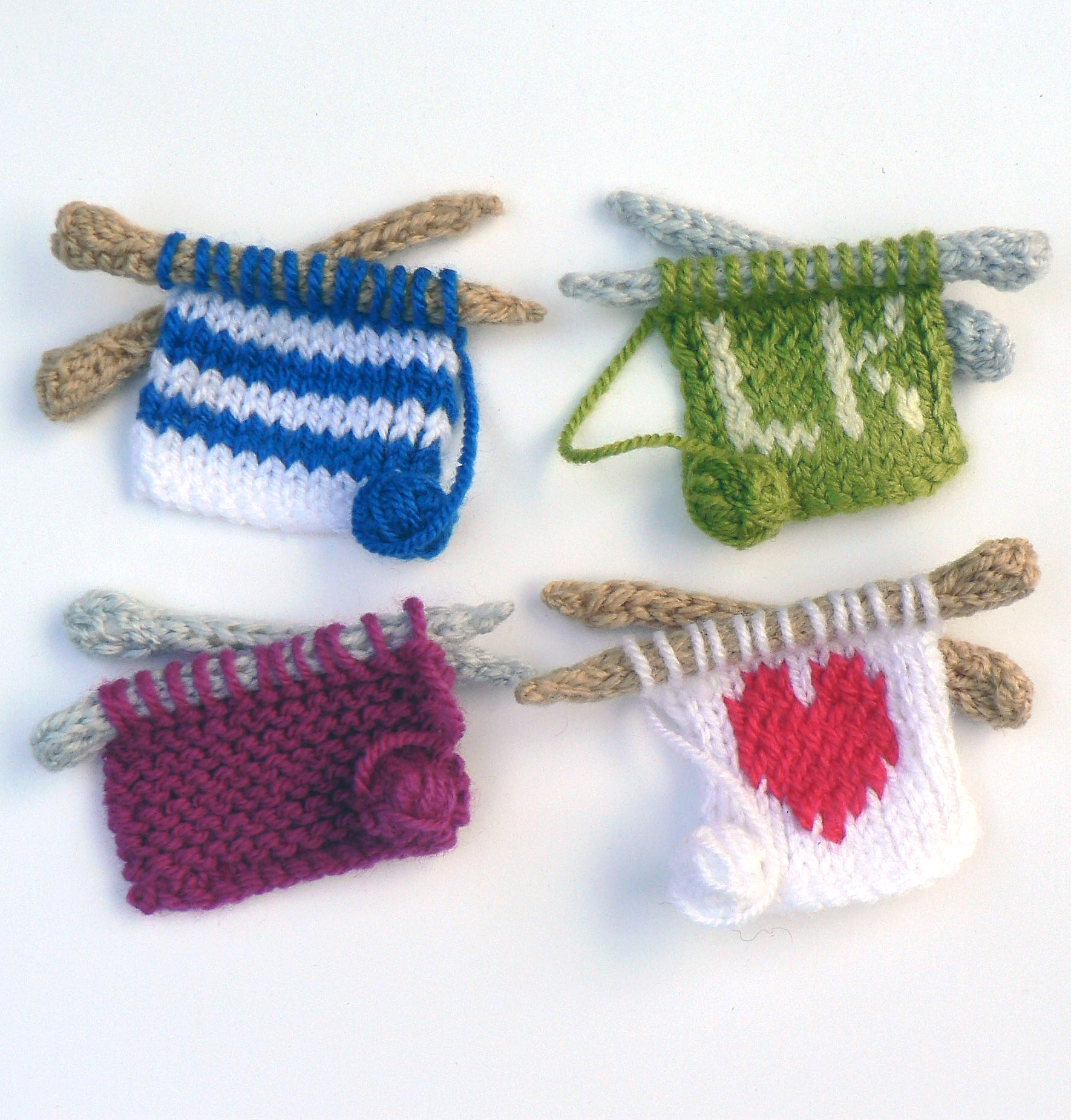 Knitting Pattern for Knitting Themed Pins