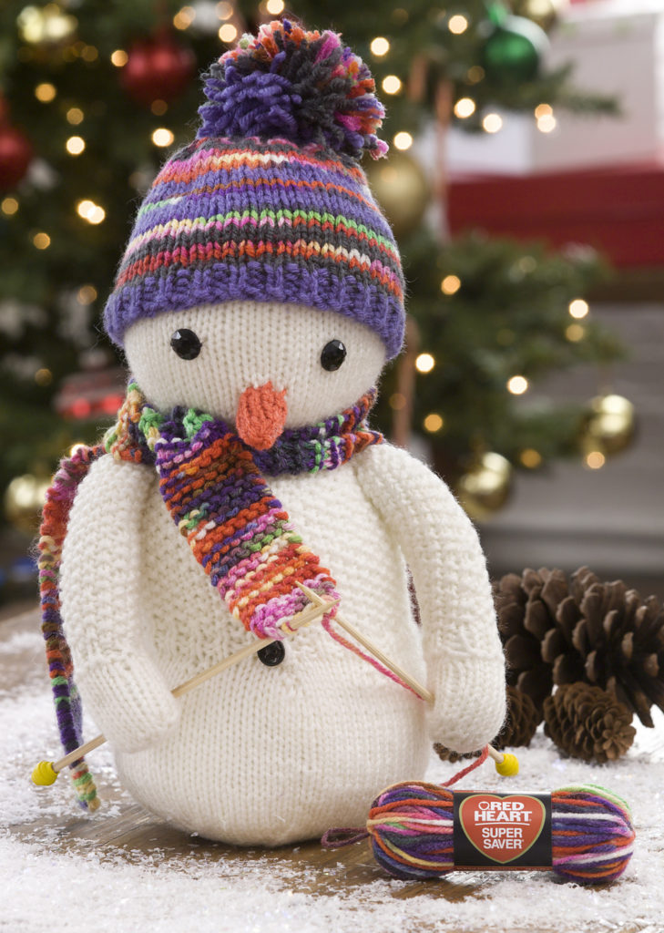 Free Knitting Pattern for Knitting Snowman