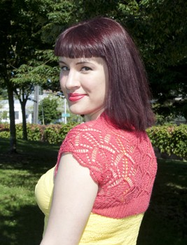 Free knitting pattern for Lace Shrug and more shrug bolero knitting patterns