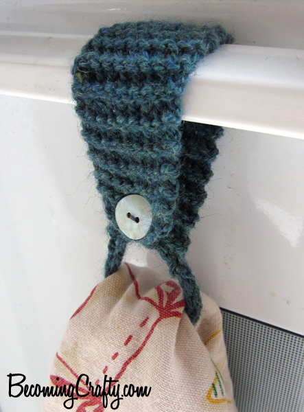 Free knitting pattern for towel holder and more household knitting patterns
