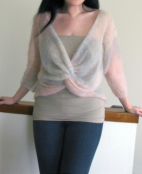 Free Knitting Pattern for Knot Front Pullover