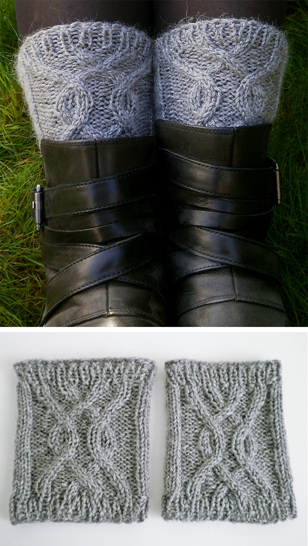 Free Knitting Pattern for Knotted Boot Cuffs