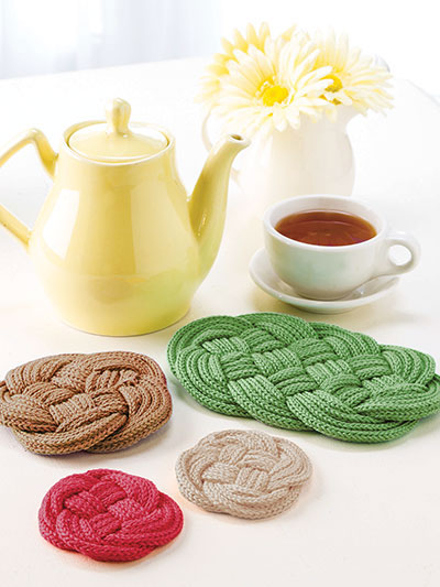Knitting pattern Knotted Trivets and Coasters