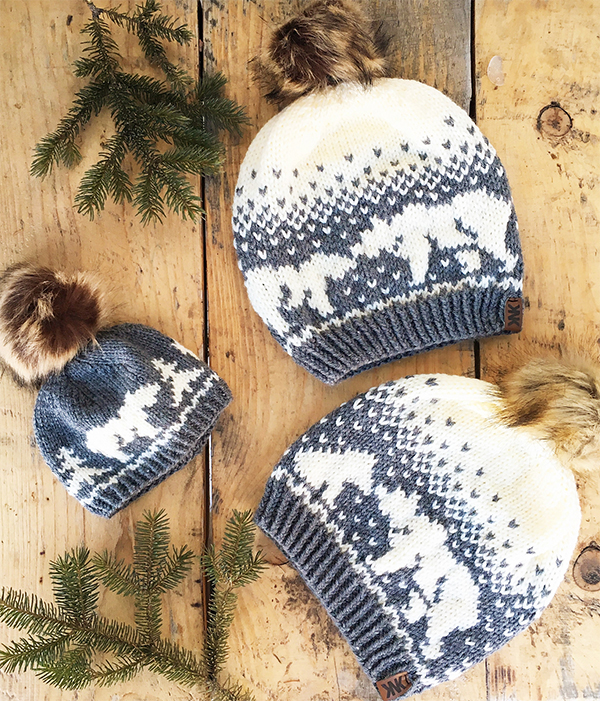 Knitting Pattern for Kodiak Kisses Hat