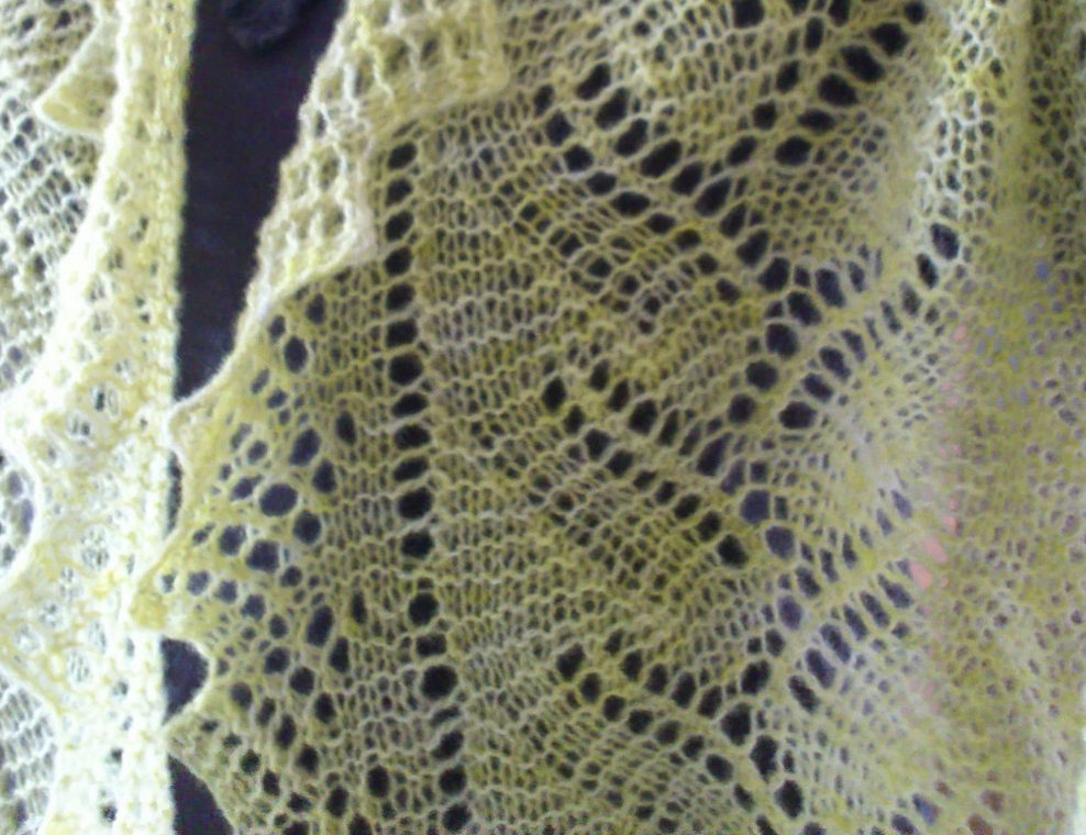 Knitting Pattern for Reversible Koloski Lace Scarf