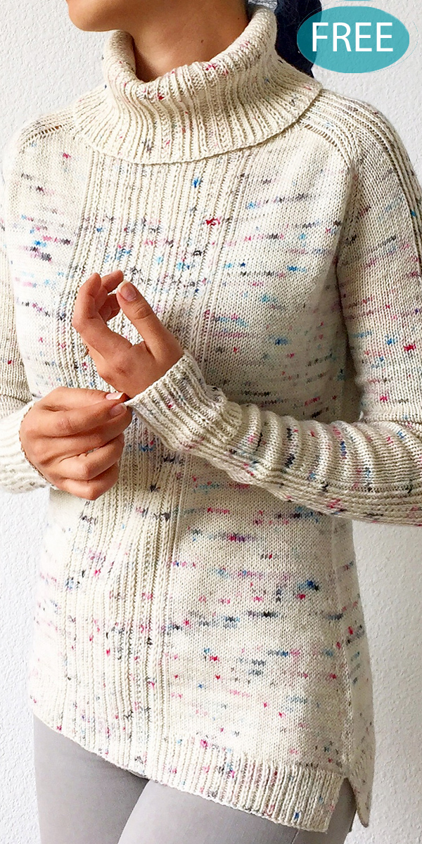Free Knitting Pattern for 2 Row Repeat Komorebi Sweater