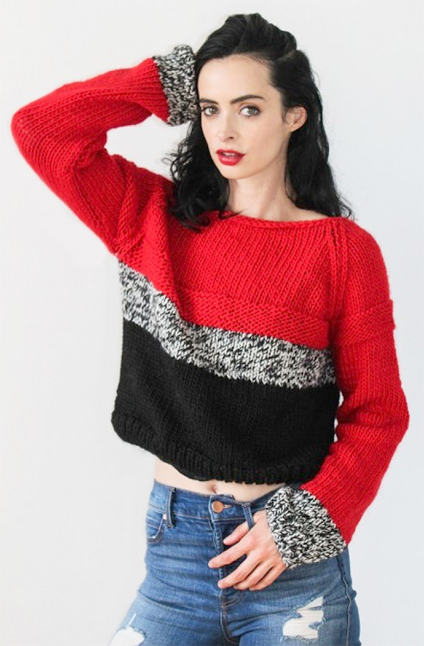 Knitting Kit for Krysten Ritter Best Friend Cropped Sweater