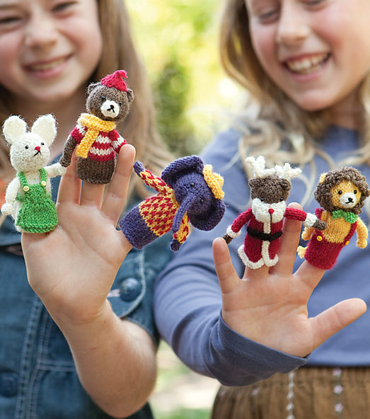Free Knitting Pattern for Menagerie Puppets with Free Trial