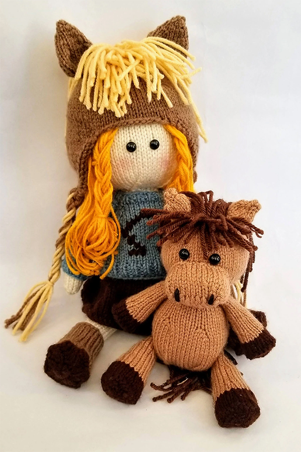 Knitting Pattern for Kylie Knit Doll & Little Knit Horse