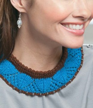 Knitting Pattern for Lovely Lace Collar