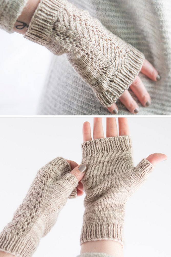 Free Knitting Pattern for Lace Mitts