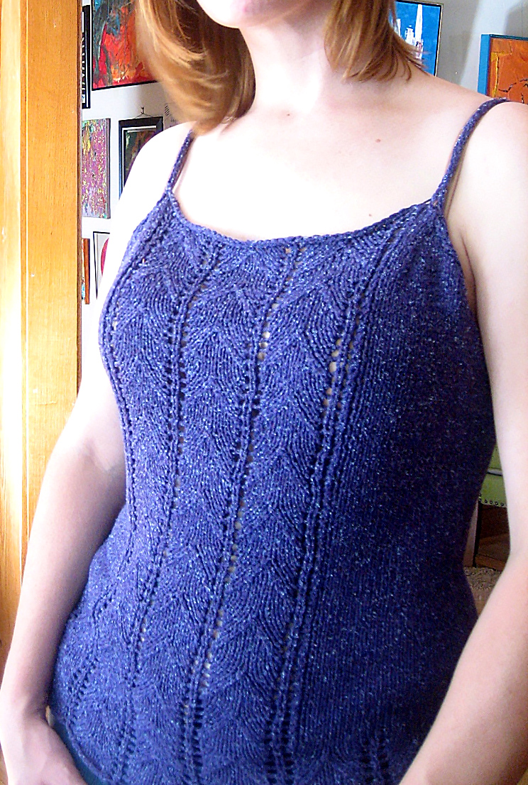 Free Knitting Pattern for Lace Camisole