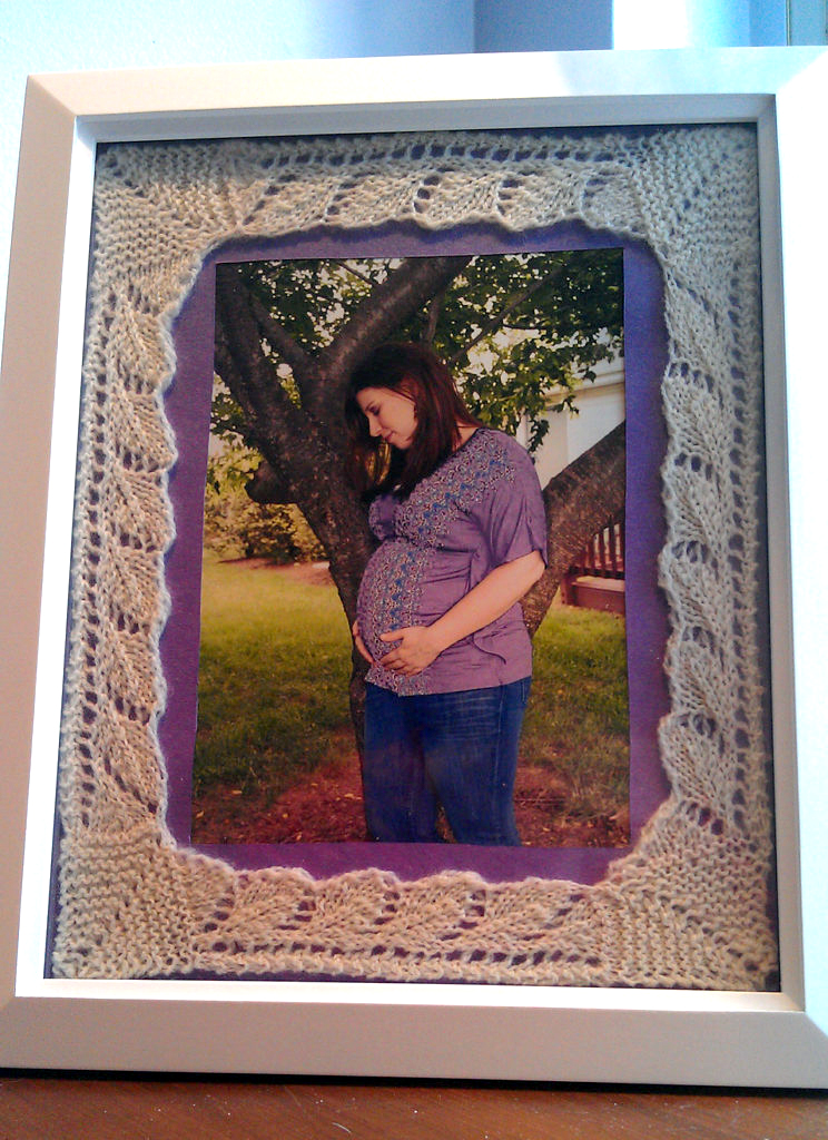 Knitting Pattern for Lace Photo Mats