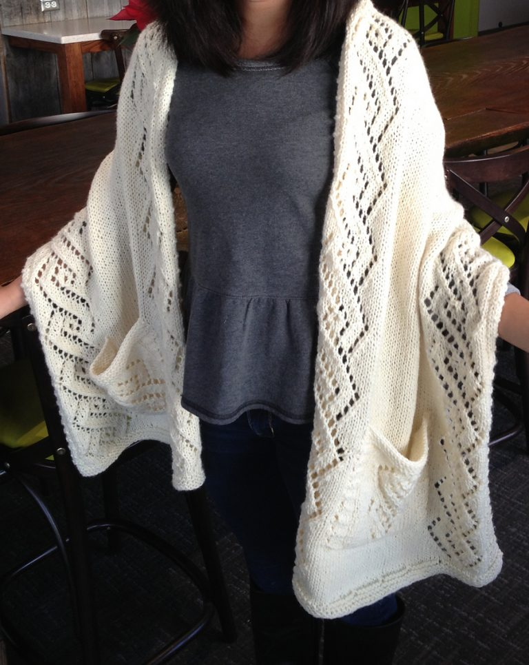 Knitting Pattern for Lace Reader's Wrap