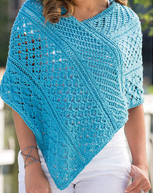 Knitting Pattern for Lace Sampler Poncho