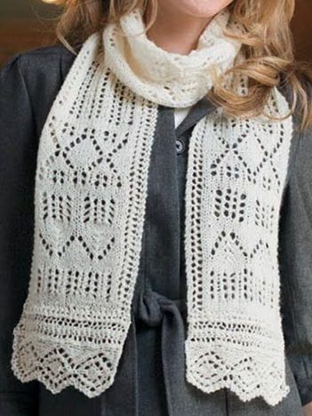 Knitting Pattern for Lace Sampler Scarf