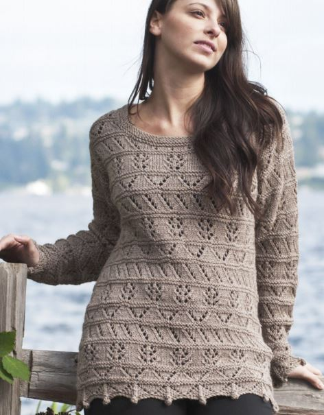 Free knitting pattern for Lace Sampler Tunic and more sampler knitting patterns