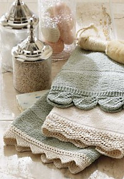 Free Knitting Pattern for Lace Edging for Hand Towels