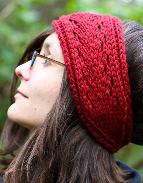 Knitting Pattern for Lacefield Headband