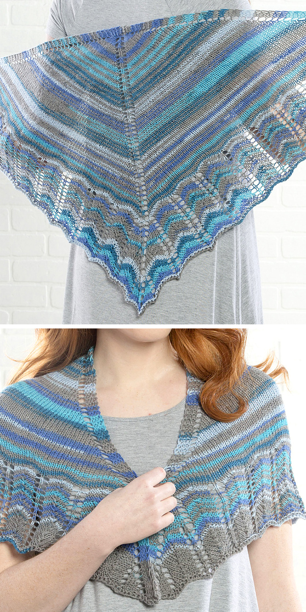 Free Knitting Pattern for One Skein Lacenti Shawl