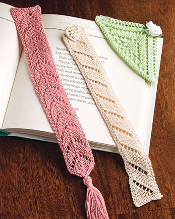 Knitting Pattern for Lacy Bookmark Trio