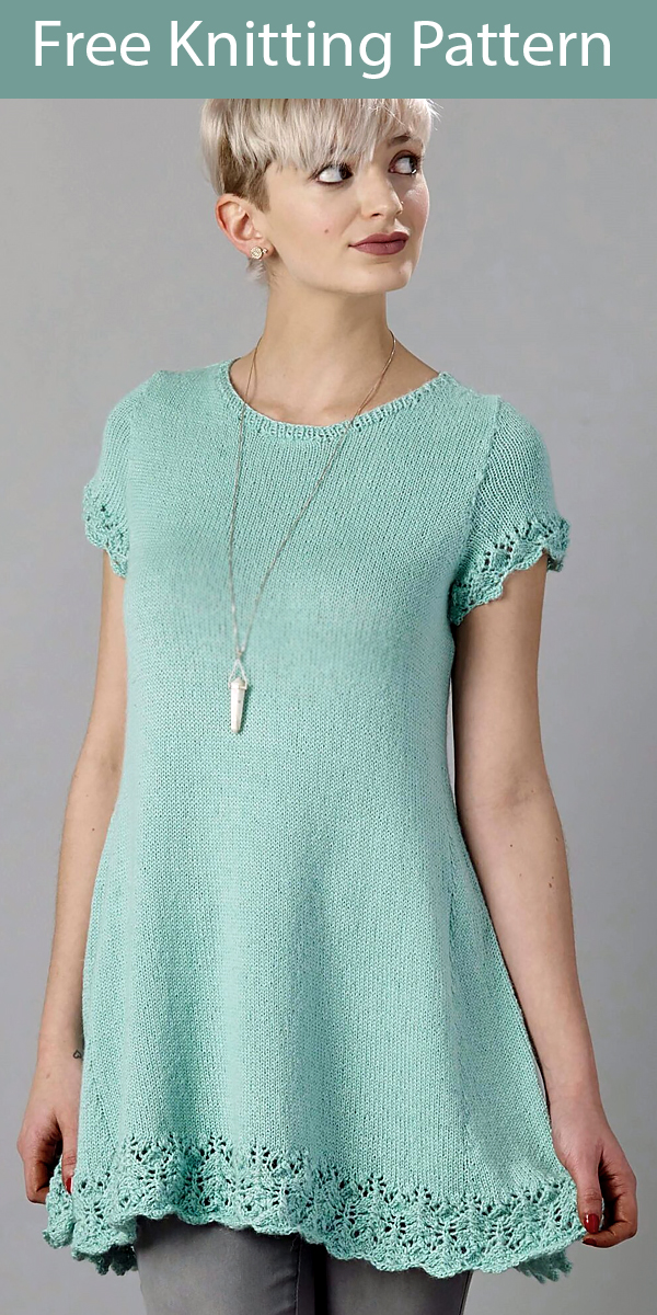 Free Knitting Pattern for Lacy Tunic