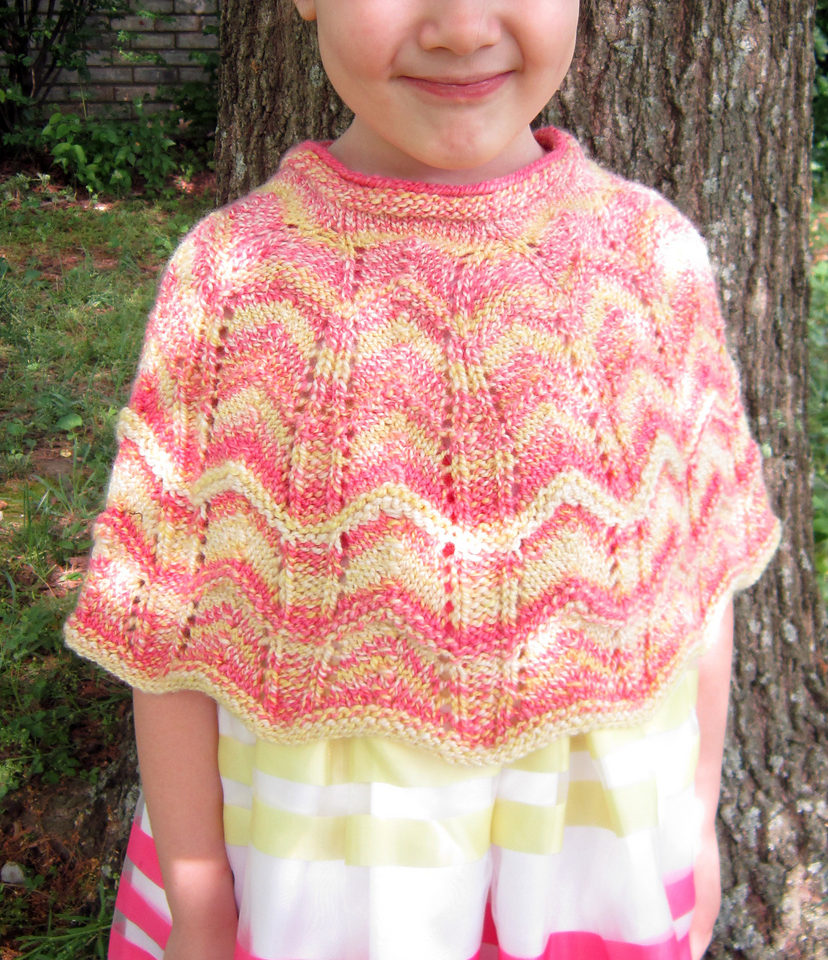 Free Knitting Pattern for Lacy Poncho