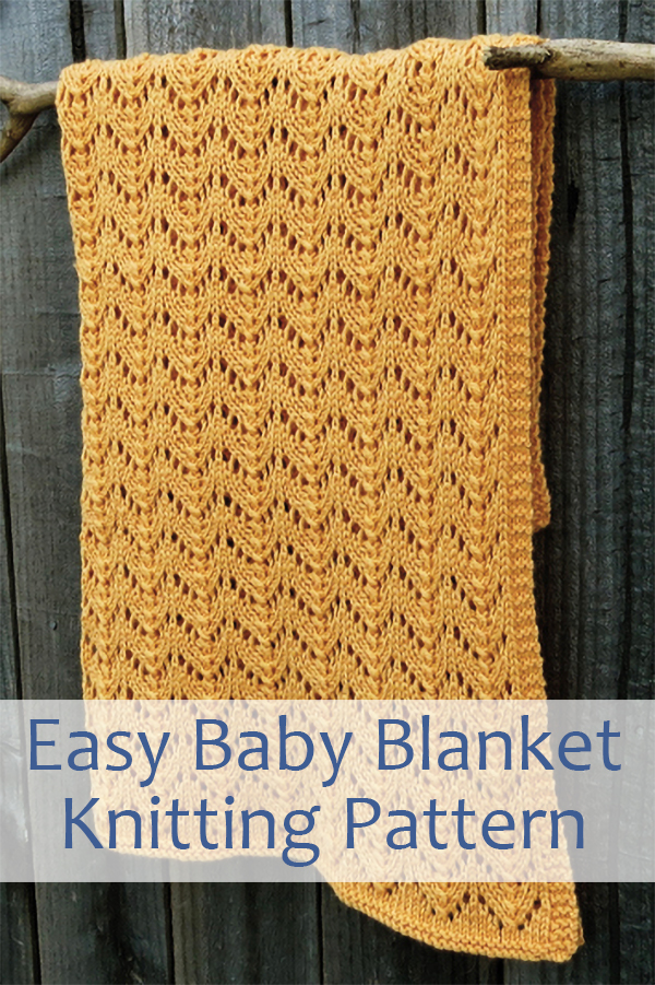Knitting Pattern for Easy Lacy Koi Tails Baby Blanket