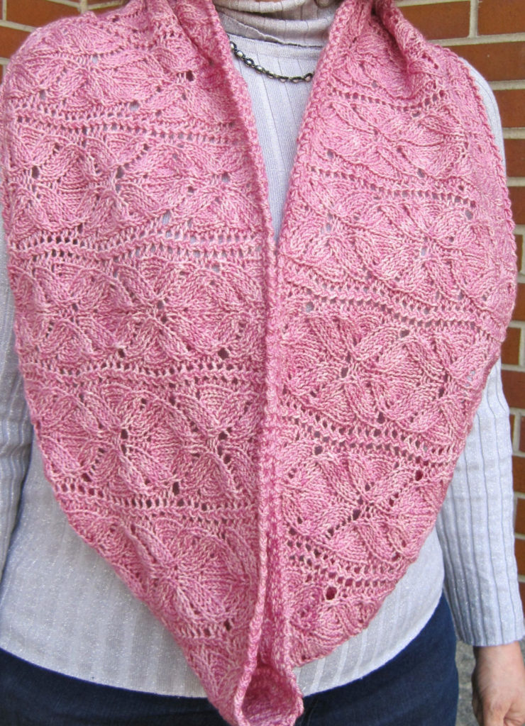Knitting Pattern for Vinco Lace Flower Cowl