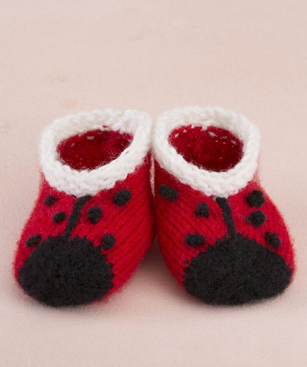 Sweet Lady Bug Booties