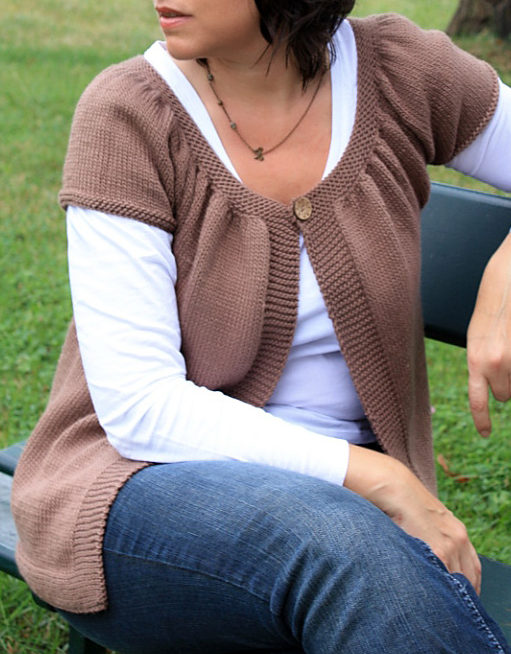 Free Knitting Pattern for Easy Lady Kina Cardigan