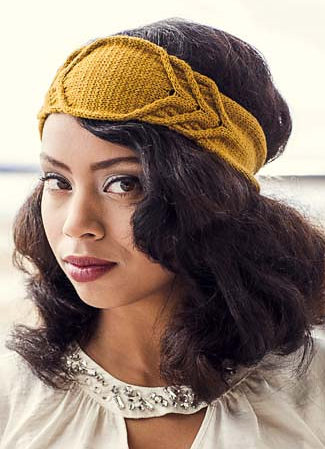 Knitting Pattern for Lady Lindy Headband