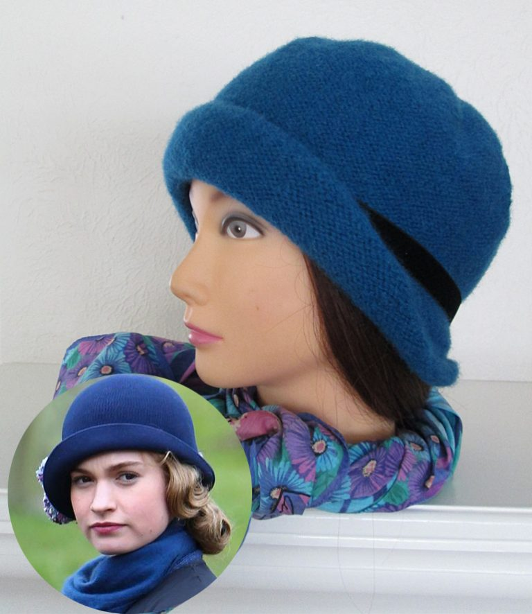 Knitting Pattern for Lady Rose Cloche
