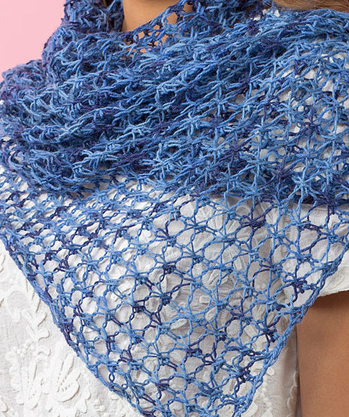 Free Knitting Pattern for 2 Row Repeat Lace Shawl