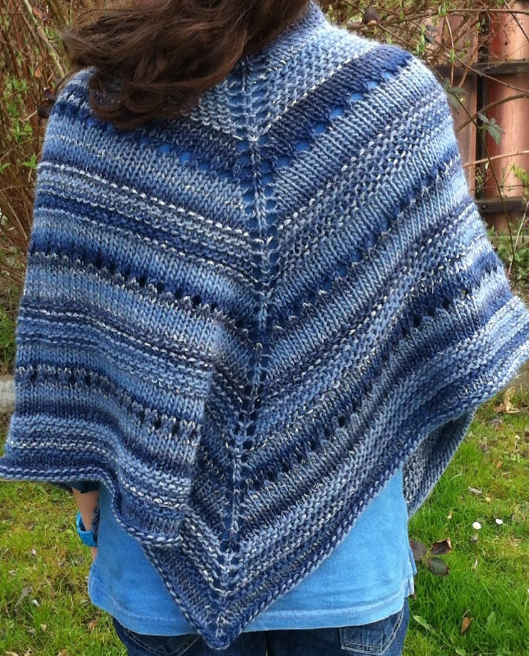 Free Knitting Pattern for Lala's Simple Shawl