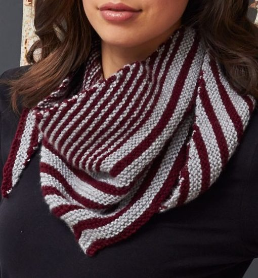 Free knitting pattern for Lana's Striped Scarf and more colorful scarf knitting patterns