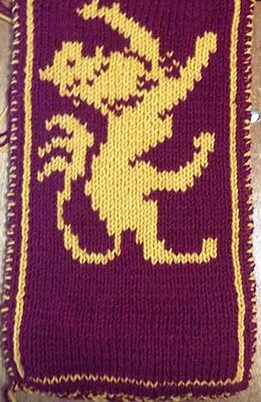 Free knitting pattern for Double Knit Lannister Scarf