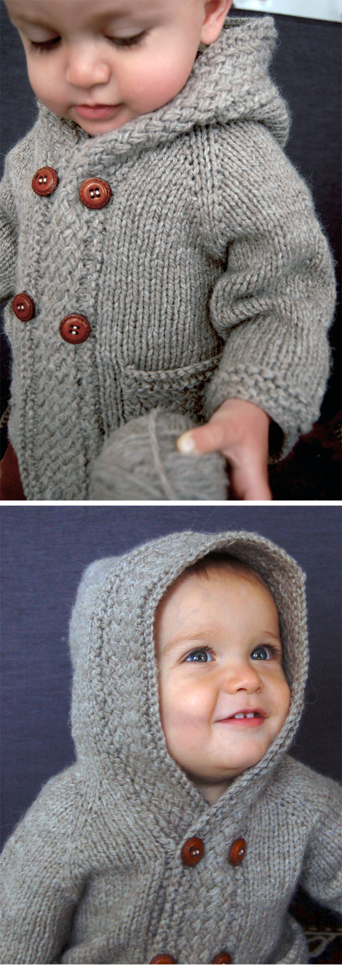 Knitting Pattern for Latte Baby Coat